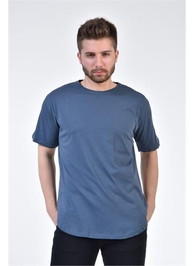 Rodi Jeans Erkek Oversize Bisiklet Yaka T-Shirt RD21YE271826 İndigo